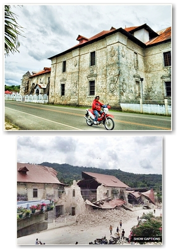 Loboc Church before and after1